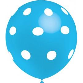 """Globos de 12"""" Azul Celeste Lunares Balloonia"""