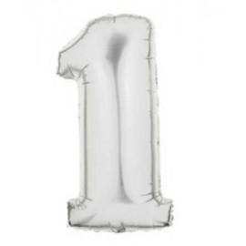 """Globos de Foil de 40"""" (101cm) Numero 1"""