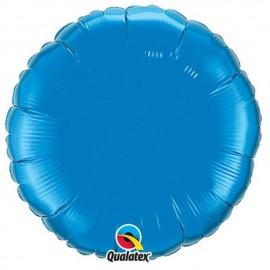 """Globos de foil Redondos de 18"""" Azul Zafiro Qualatex"""