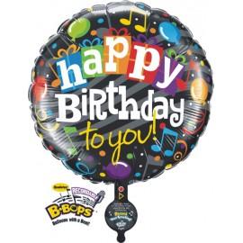 """Globos de foil de 31"""" B-BOP happy birthday"""