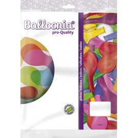 """Globos de 11"""" Colores Surtidos Balloonia 50Uni"""