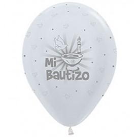 "Globos de 12"" Mi Bautizo Sempertex"