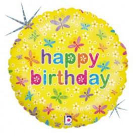 "Globos de foil de 9"" birthday mariposas"