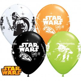 """Globos de 11"""" Surtido Darth Vader & Yoda Qualatex"""