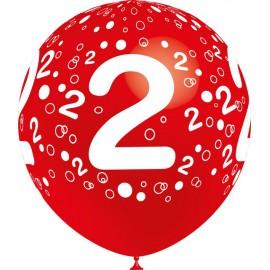 """Globos de 12"""" Número 2 Balloonia"""