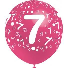 """Globos de 12"""" Número 7 Balloonia"""