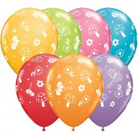 "Globos de 11"" Jardin de Mariposas Qualatex"