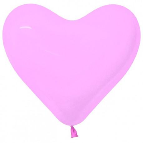 """Globos de 12"""" corazones Rosados"""