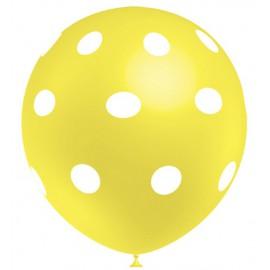"""Globos de 12"""" Amarillo Limon Lunares Balloonia"""
