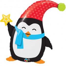 """Globos de foil de 35"""" (89Cm) Pinguino Friolero"""