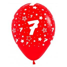 Globos R-12 (30Cm) Número 7