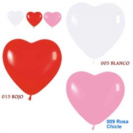 """Globos de 5"""" colores surtidos corazones"""