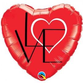 """Globos de foil de 18"""" (45Cm) LOVE raro"""