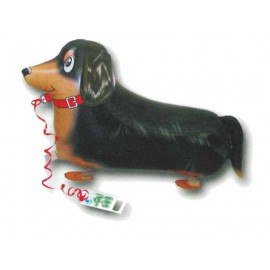 Globos de foil andadores Perrito Negro