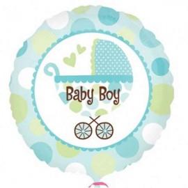 "Globos de foil de 18"" Baby Boy Cochecito"