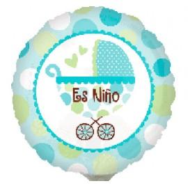"Globos de foil Mini 9"" (23Cm) Cochecito Es Niño"