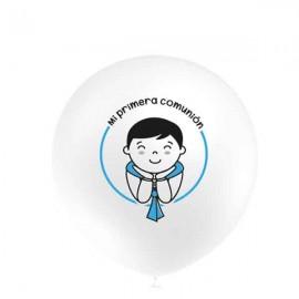 """Globos de 12"""" Comunion AZUL Balloonia"""