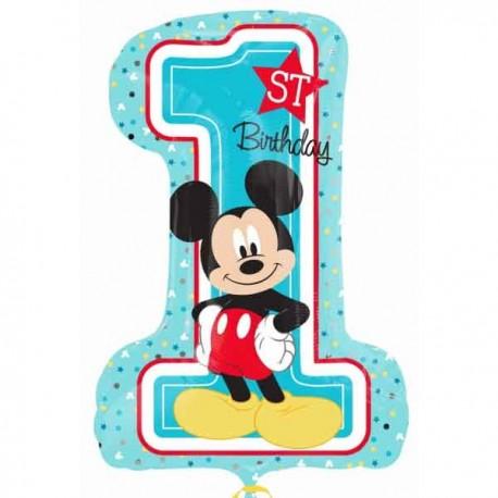 """Globos Foil supershape de 19"""" X 28"""" Mickey 1st Cumple"""