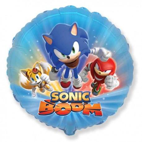 "Globos foil 18"" (45Cm) Sonic Boom"