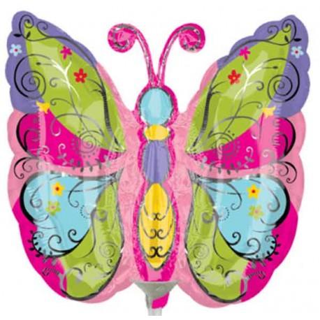 Globos de foil Mini Mariposa Colorida