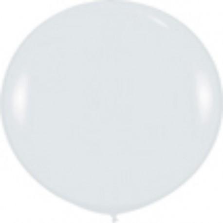 GLOBOS 3FT (100cm) FASHION SOLIDO BLANCO