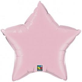 """Globos de foil Estrella de 20"""" Perlado Rosa qualatex"""