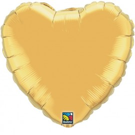 """Globos de foil Corazones de 4"""" Oro metálico"""