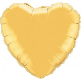 "Globos de foil Corazón de 18"" Oro"