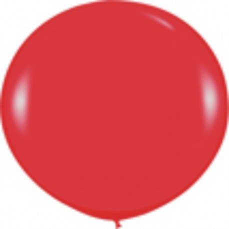 GLOBOS 3FT (100cm) FASHION SOLIDO ROJO