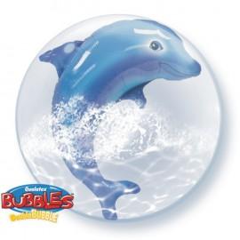 """Globos de foil de 24"""" Bubbles doble Delfín Saltarín"""