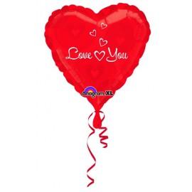 """Globos de foil de 18"""" Love You Corazones"""