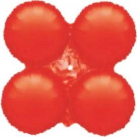 Globos de foil grupo 4 Redondos Rojo