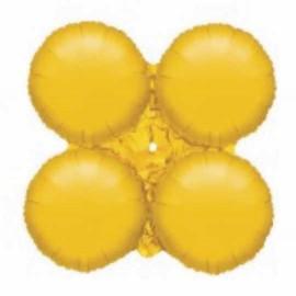 Globos de foil grupo de 4 Redondos Oro