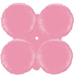 Globos de foil grupo 4 Redondos Rosa