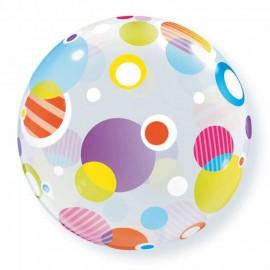 """Globos de foil de 22"""" Bubbles Polka Dots"""