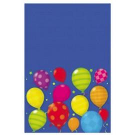 Mantel de plastico happy bday globos