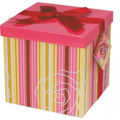Caja de regalo grande (17,5 x 17,5 x 17) rosa