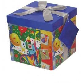Caja de regalo mediana (15,4 x 15,4 x 15) fiesta y champagne