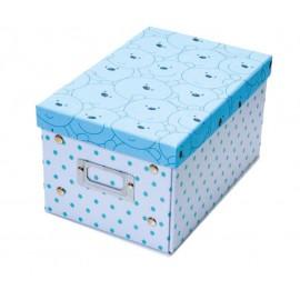 Caja de los tesoros (23,5 x 16 x 13,2) celeste