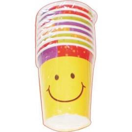 Vasos carita sonriente 8uni