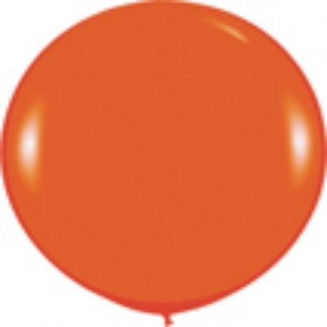 GLOBOS 3FT (100cm) FASHION SOLIDO NARANJA