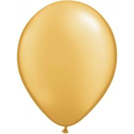 """Globos redondos de 5"""" metálico Oro"""