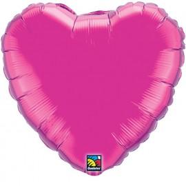 """Globos de foil corazones 18"""" Magenta"""