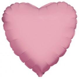 """Globos de foil corazón 18"""" perlado Rosa"""