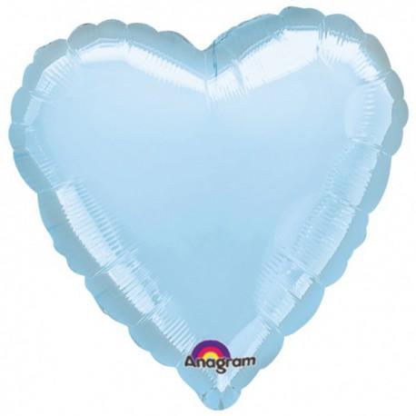 """Globos de foil corazones 32"""" perlado Azul"""