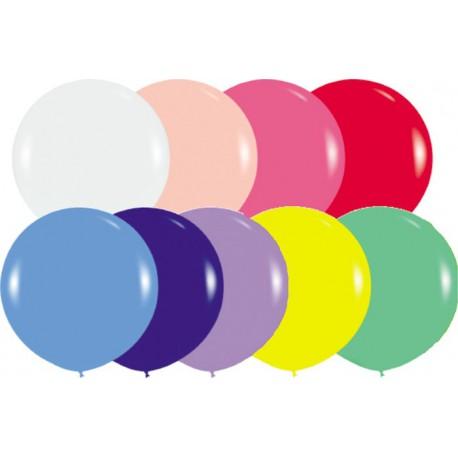 "Globos redondos de 20"" (50Cm) Colores solidos surtidos Sempertex"
