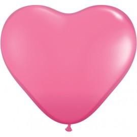 Globos gigantes de 3FT Corazón Rosa Qualatex