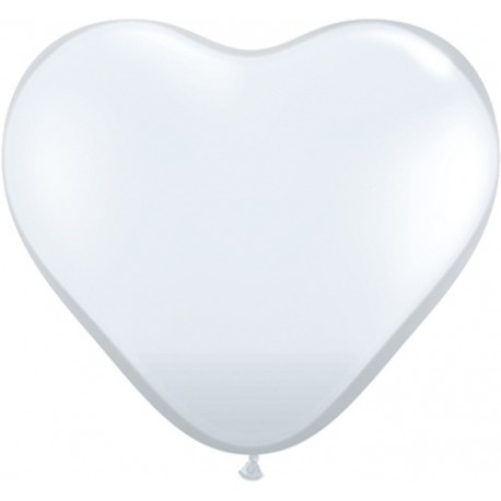 Globos gigantes de 3FT Corazón Diamante Claro Qualatex
