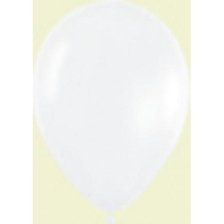 """Globos de 9"""" (22,8cm) Fashion solido Blanco Sempertex"""