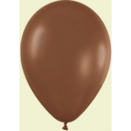 "Globos de 9"" (22,8cm) Fashion solido Chocolate Sempertex"